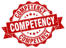 Competency stamp Royalty Free Stock Image