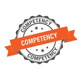 Competency stamp illustration. Competency stamp seal illustration design Stock Photos