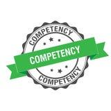 Competency stamp illustration. Competency stamp seal illustration design Stock Photo