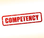 Competency text buffered. Illustration of competency text buffered on white background Royalty Free Stock Photos