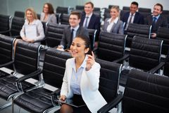 Competent businesswoman Stock Image
