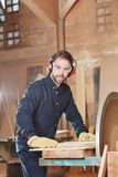 Compentent carpenter on his profession Royalty Free Stock Photography