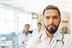 Competent doctor as chief physician. Showing competence and leadership Stock Images