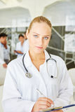 Competent woman as doctor Stock Images