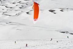 Competição Altosangro 2016 do snowkite do mundo Imagens de Stock