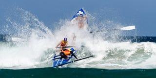Competição australiana da liga dos remadores da ressaca Fotografia de Stock Royalty Free
