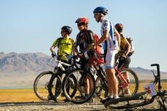 Competição da bicicleta de montanha Imagens de Stock Royalty Free