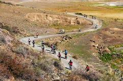 Competição da bicicleta de montanha Foto de Stock