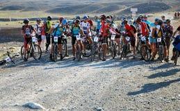 Competição da bicicleta de montanha Foto de Stock Royalty Free