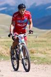 Competição da bicicleta de montanha Fotografia de Stock
