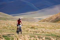 Competição da bicicleta de montanha Fotos de Stock