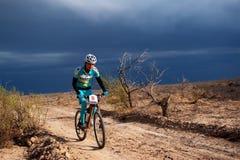 Competição da bicicleta de montanha da aventura Fotografia de Stock Royalty Free