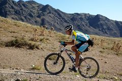 Competição da bilis da montanha da aventura Fotos de Stock Royalty Free