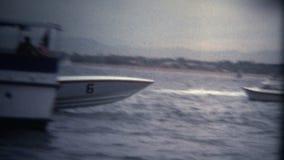 (Competição da competência de barco da velocidade do vintage 8 super) video estoque