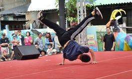 Competição da dança do hip-hop fotografia de stock