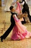 Competição da dança do standard aberto, 12-13 anos velha Fotos de Stock Royalty Free