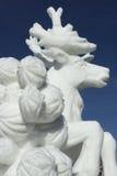 Competição da escultura da neve de Breckenridge fotografia de stock