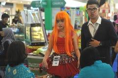 Competição de Cosplay em Indonésia Fotos de Stock
