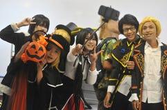 Competição de Cosplay em Indonésia Foto de Stock