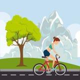 Competição de esporte da bicicleta Foto de Stock Royalty Free