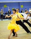Competição de esporte da dança dos pares Foto de Stock Royalty Free