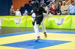 Competição de Kobudo entre meninos Imagem de Stock Royalty Free