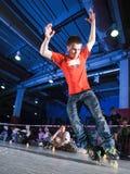 Competição de Rollerblading imagens de stock royalty free