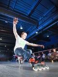 Competição de Rollerblading fotografia de stock