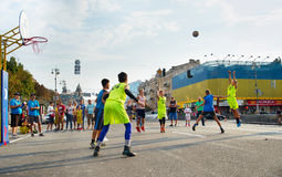 Competição de Streetball Fotografia de Stock