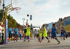 Competição de Streetball Imagens de Stock