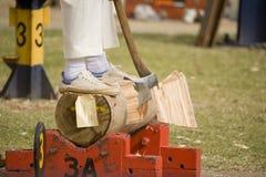 Competição de Woodcutting Imagem de Stock Royalty Free
