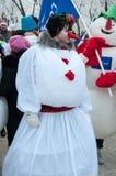 Competição do ano novo dos bonecos de neve Imagens de Stock Royalty Free