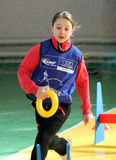 Competição do atletismo dos miúdos Fotos de Stock
