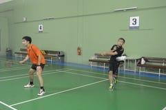 Competição do badminton Foto de Stock