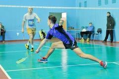 Competição do badminton Fotografia de Stock