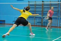 Competição do badminton imagens de stock royalty free