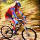 Competição do buke da montanha Fotografia de Stock