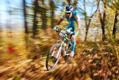 Competição do buke da montanha Fotografia de Stock Royalty Free