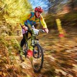 Competição do buke da montanha Imagem de Stock Royalty Free