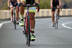Competição do ciclismo, atletas do ciclista que montam uma raça Imagem de Stock Royalty Free