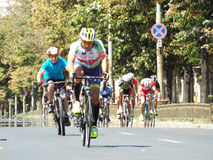 Competição do ciclismo em Bucareste Fotografia de Stock
