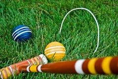 Competição do Croquet foto de stock royalty free
