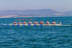 Competição do enfileiramento de Eights outubro da regata  Fotografia de Stock