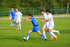 Competição do futebol Fotos de Stock Royalty Free