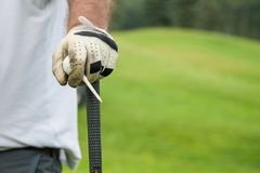 Competição do golfe do clube que joga o jogo engraçado do esporte fotos de stock