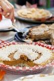 Competição do gosto do tarte de abóbora Imagens de Stock Royalty Free
