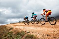 Competição do Mountain bike Foto de Stock Royalty Free