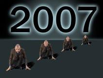 Competição do negócio por 2007 anos novo Imagens de Stock Royalty Free