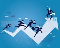 Competição do negócio Raça ao sucesso Fotos de Stock