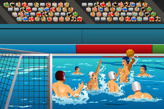 Competição do polo aquático Imagens de Stock